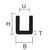 U-PROFIL EPDM 12X14 MM SVART